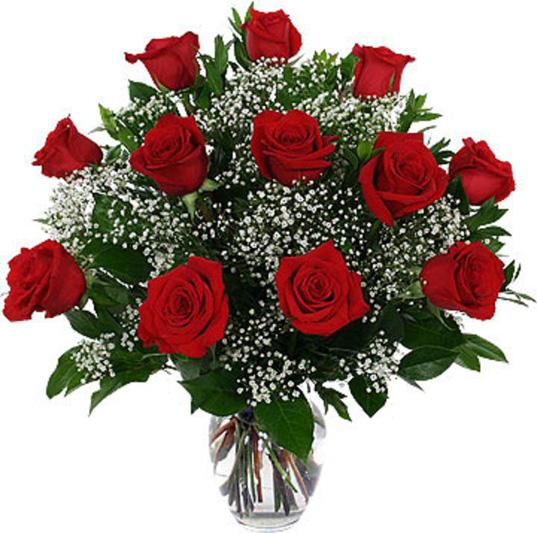 ramo de 12 rosas rojas - Imagenes De Ramos De Rosas