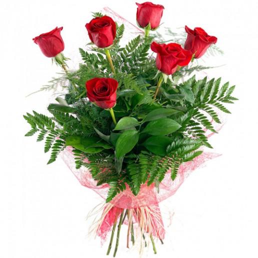 ramos compuesto por 6 rosas rojas para envio en Granada