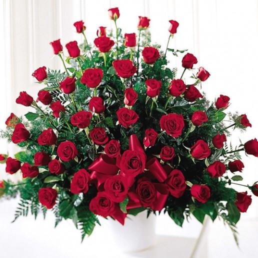Centro de 24 rosas en 2 colores