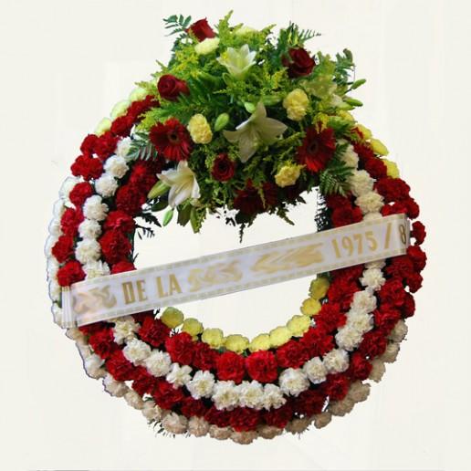 corona de flores en oferta para envío en Granada