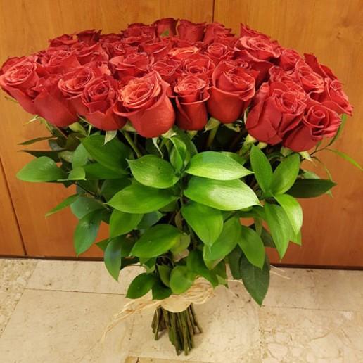 ramo de 50 rosas rojas para enviar en Granada