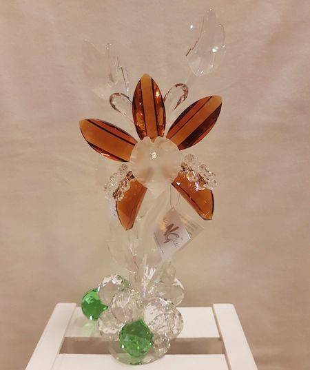 Orquidea de cristal de Murano