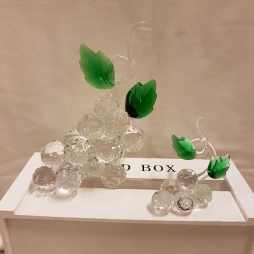 Racimos de uvas cristal de murano