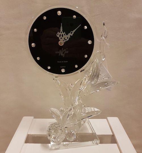Reloj redondo de cristal de Murano