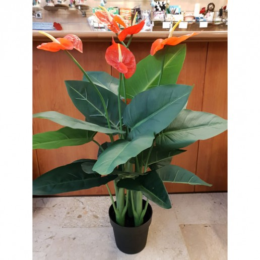 Planta anthurium en artificial