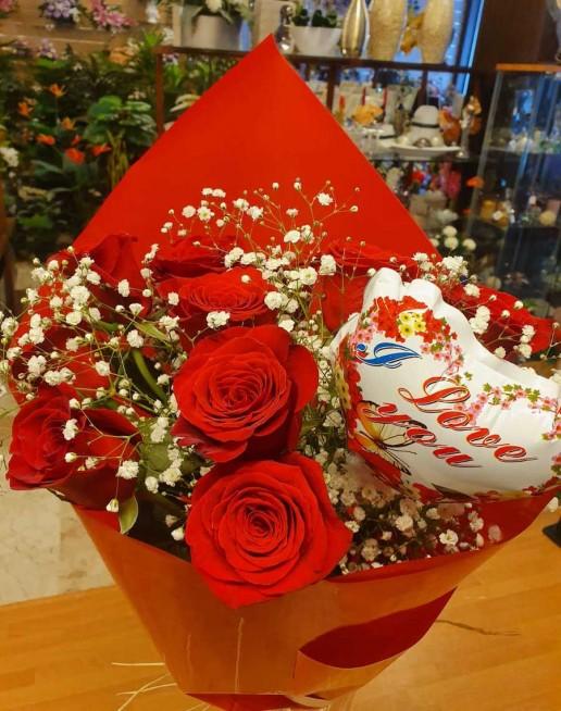 envio de rosas a domicilio por San Valentín en Granada